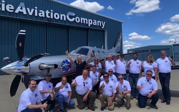 Daher congratulates Margrit Waltz aviation milestone