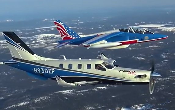 Daher TBM 930 & the Patrouille de France U.S. tour in video