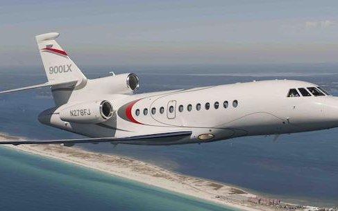 Dassault Falcon 8X, 900LX trijets at Dubai Airshow 2019
