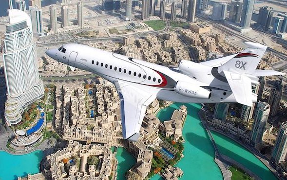 Dassault Falcon 8X in the spotlight at MEBAA 2018