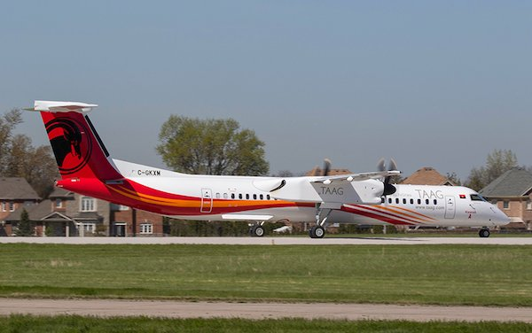 De Havilland Canada delivers first Dash 8-400 to TAAG Angola Airlines