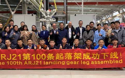 Delivery of 100th ARJ 21 Landing Gear Strut - Liebherr LAMC Aviation