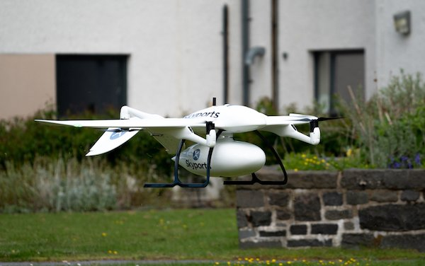 Delivery trial for NHS in Scotland to support UK COVID-19 response: Thales, Skyports and Wingcopter