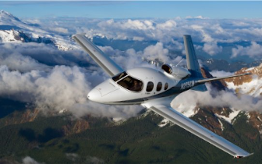 Discover Cirrus Aircraft  G2+ Vision Jet - enhanced take-off and inflight WiFi