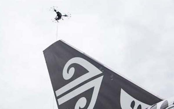 Drones inspecting aircraft is the reality today