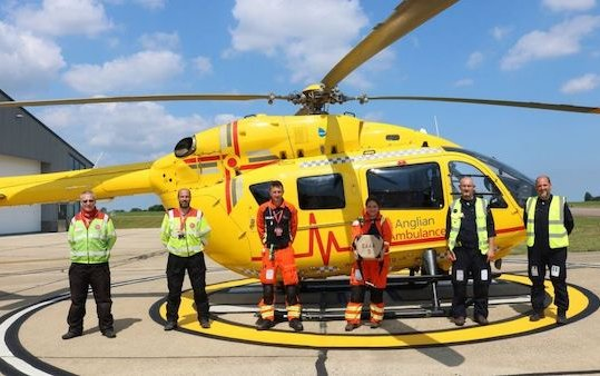 East Anglian Air Ambulance - blood is now available on every mission