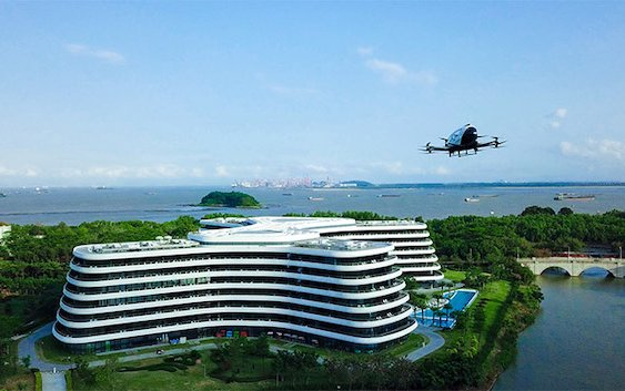 EHang obtained World First Commercial pilot operation approval of passenger-grade AAVs for Air Logistics Uses