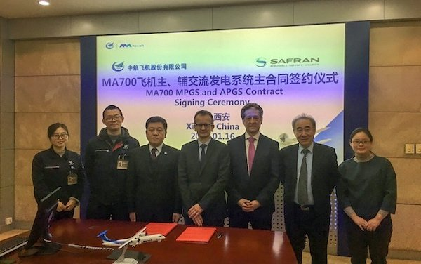 Electrical power generation for the MA-700 regional aircraft provided by Safran