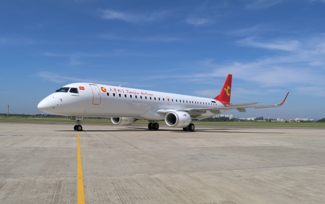 Embraer Delivers its 1,300th E-Jet to Tianjin Airlines