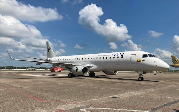 Embraer E190 commenced revenue flights with Myanmar Airways International