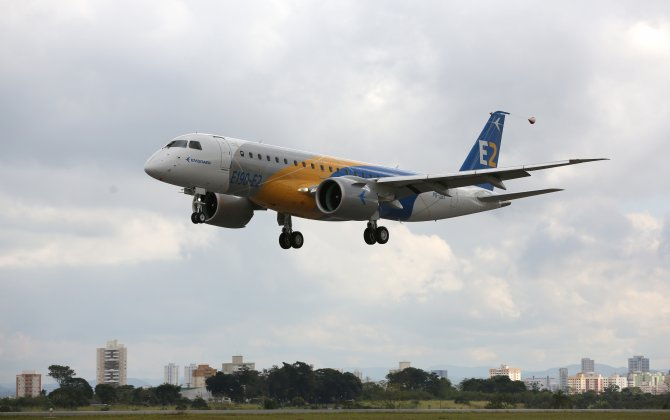 Embraer E190-E2 wins certification from three authorities:  FACC technology is also on board