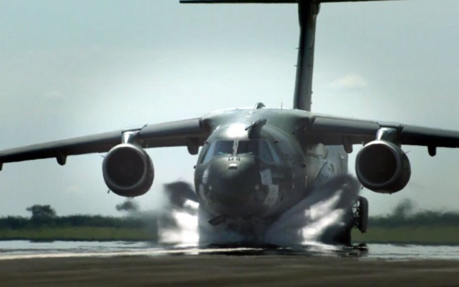 Embraer KC-390 arrives in the United States for a series of flight trials
