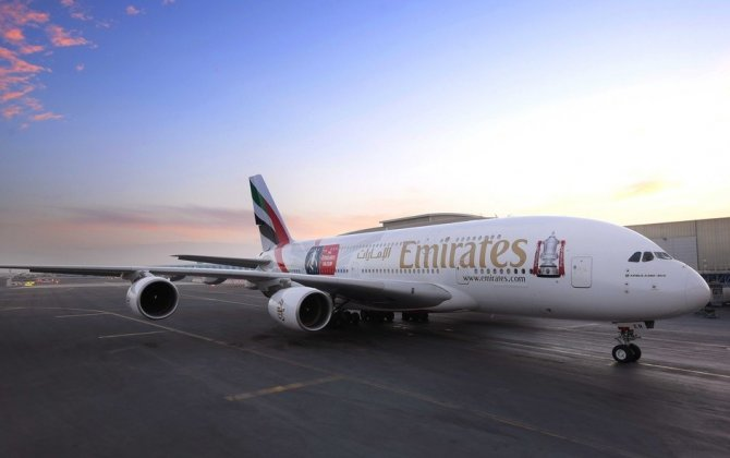 Emirates FA Cup A380: Dubai carrier brings football fever to the skies