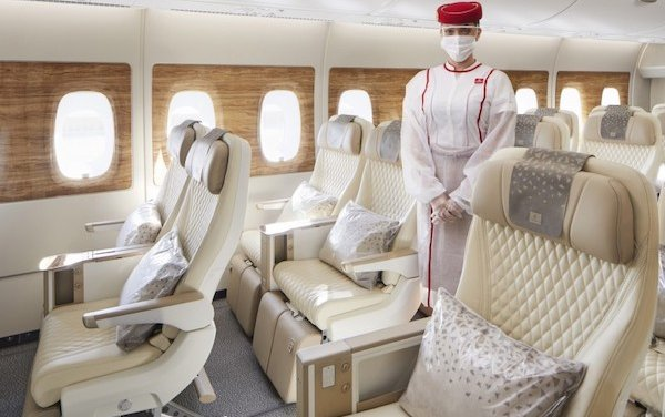 Emirates takes its newest A380 with premium economy to London