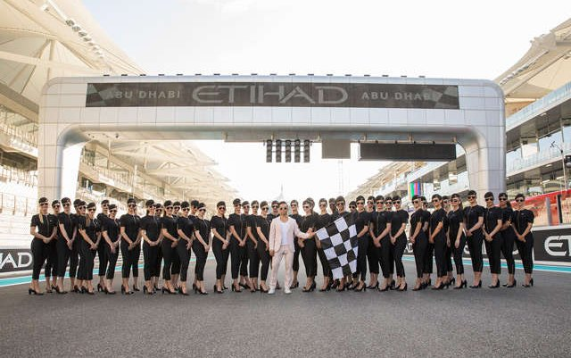 Etihad A380 leads the Grand Prix parade