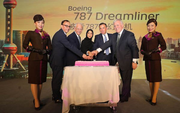 Etihad Airways Boeing 787-10 Dreamliner services to Shanghai