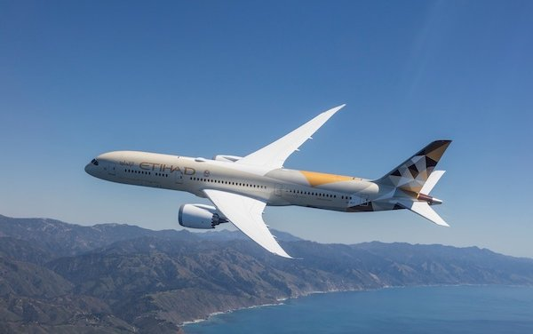 Etihad Airways Boeing 787 Dreamliner to Barcelona