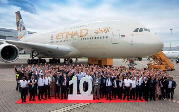 Etihad Airways Celebrates The Delivery Of Its 10th A380