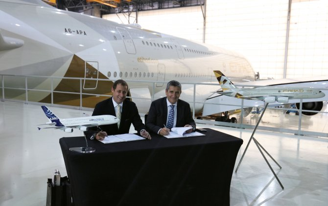 Etihad Airways Engineering and Airbus sign MoU to develop A380 MRO Services in Abu Dhabi