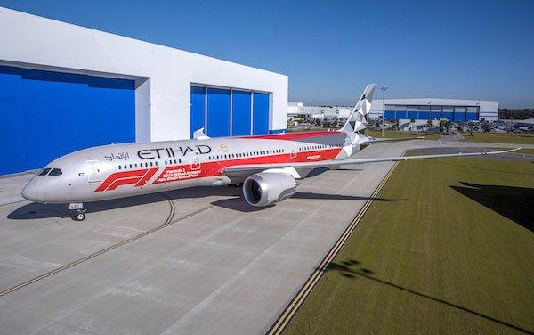 ETIHAD AIRWAYS UNVEILS SPECTACULAR FORMULA 1 LIVERY