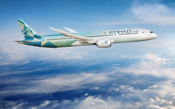 Etihad and Boeing global partnership centered on 787 Dreamliner and Sustainable Aviation