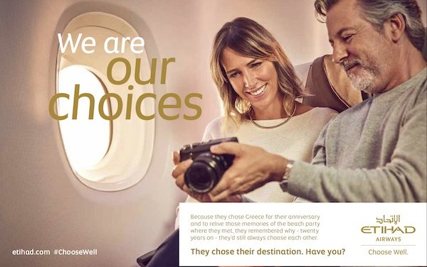 Etihad launches new brand platform: 'Choose Well'