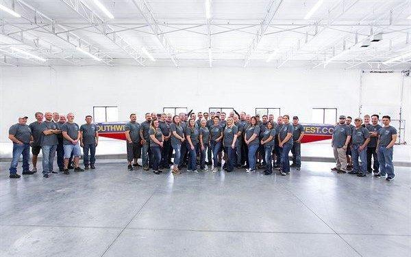 FACC Wichita performs 1000th Split Scimitar Winglet modification