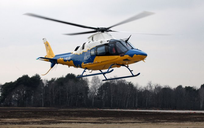 Finmeccanica AW109 Trekker helicopter performs first flight