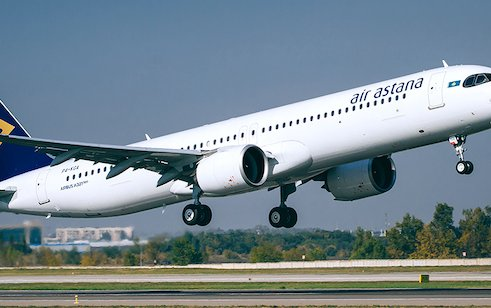 First Air Astana Airbus A321 Long Range aircraft presented at ceremony in Nur-Sultan