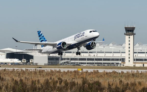 First Airbus A220 powered by Pratt & Whitney GTF Engines delivered to JetBlue