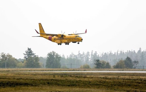 First Airbus C295 search and rescue aircraft for the RCAF arrives in Canada