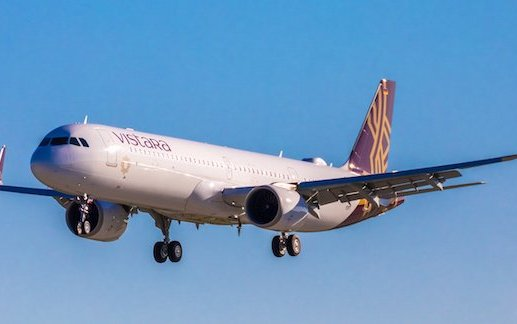 First airline in South Asia with lie-flat beds on narrowbody jet - Vistara received first Airbus A321neo