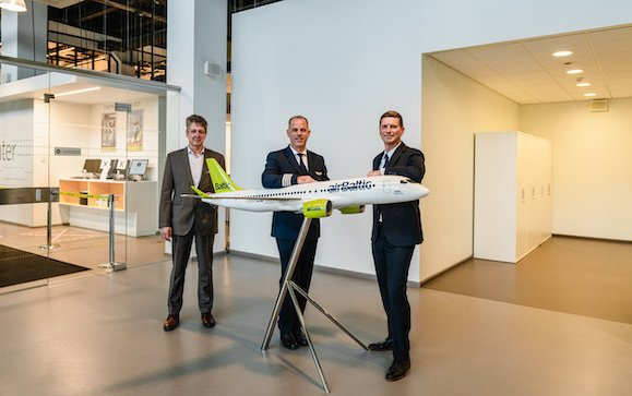 First among airlines CEOs airBaltic Martin Gauss Type Rated on Airbus A220