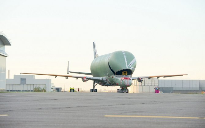 First BelugaXL transporter rolls off assembly line