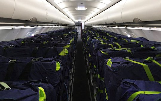 First EASA-certified commercial Cargo Seat Bags