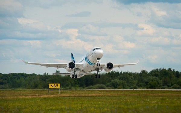 First EgyptAir A220-300 maiden flight