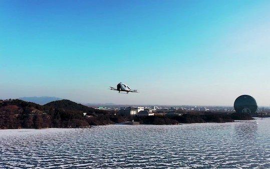 First EHang 216 AAV Trial Flights in Beijing completed