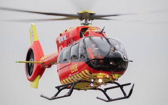 First ever five-bladed Airbus H145 helicopter received by Norwegian Air Ambulance Foundation