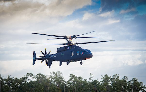 First flight of Sikorsky-Boeing SB>1 DEFIANT™ Helicopter