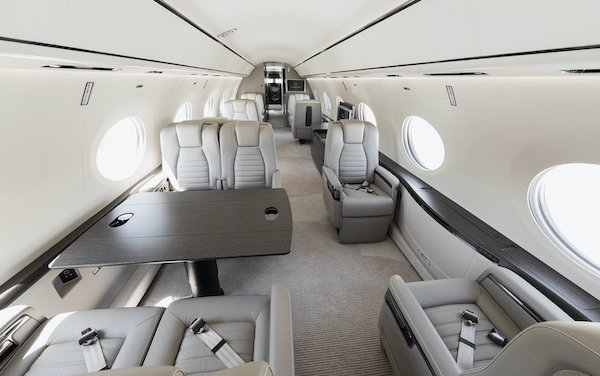 First fully outfitted Gulfstream G700 - interior elements join flight-test program