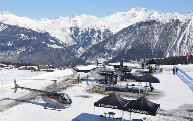 First helicopter event in mountain - Couchevel