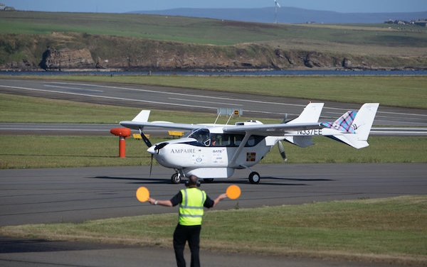First hybrid electric aircraft in Scotland - Ampaire