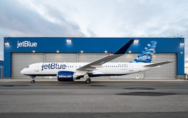 First JetBlue Airbus A220 powered by Pratt & Whitney GTF engines entered service