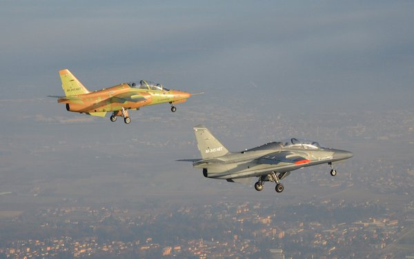 First M-345 production aircraft performs its maiden flight