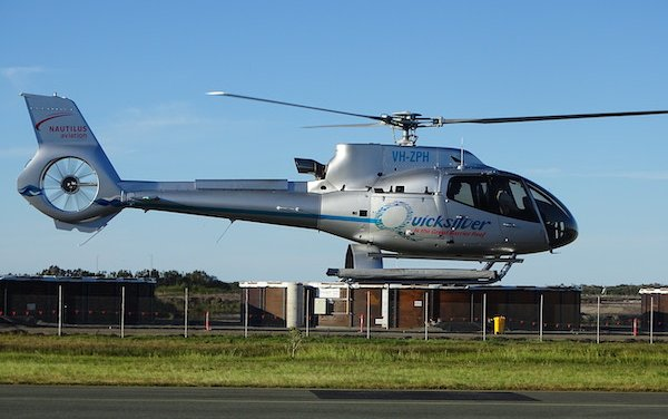 First of two new helicopters for tourism operator Nautilus