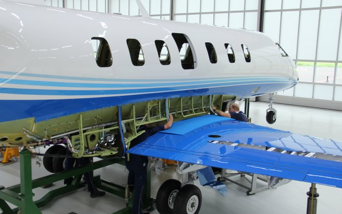 "First PC-24 Series Aircraft Successfully Married and Now Standing on Own ""Legs"""