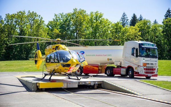 First rescue helicopter flies on sustainable aviation fuel