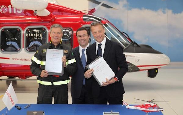 First two AW139 helicopters delivered to Italy's National Fire Corps