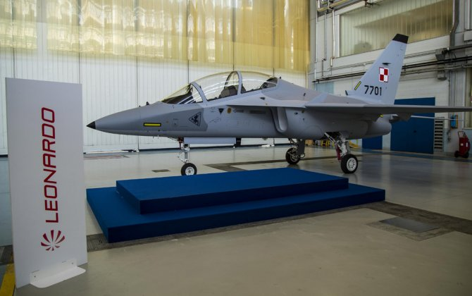 Firt of 8 AERMACCHI M-346 aircraft for the Polish Air Force unveiled by Polish Deputy Defence Minister Bartosz Kownacki