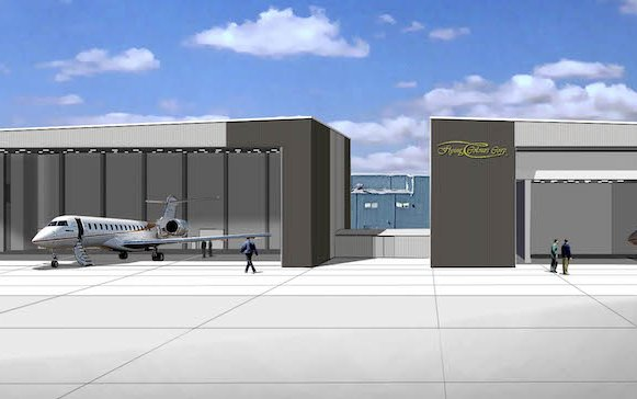 Flying Colours Corp. breaks ground for new hangar at headquarters